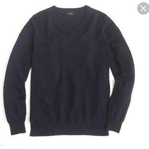 NWOT J.Crew thin Rugged Cotton V-neck sweater